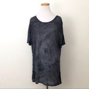 Gypsy 05 Oversozed Linen Tee Shirt Medium